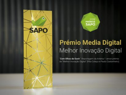 SAPO Digital Media Awards: Antena 1 and iNOVA Media Lab co-production wins prize for best digital media innovation
